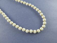 Napier Necklace White Beads in Gold Tone Pat 4,774,743 (1114)