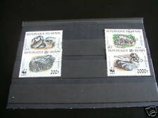 ***** TIMBRES REPTILES / SERPENTS : SERIE COMPLETE WWF DU BENIN 1999 / STAMPS SN