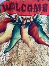 Toland Welcome Peppers 28 x 40 Spicy Colorful Jalapeno Flower House Flag