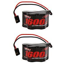 Venom 6V 1600mAh 5-Cell Hump Receiver NiMH Battery x2 Packs