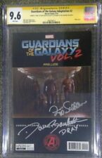 Guardians of the Galaxy Adaptation #2__CGC 9.6 SS__Signed by Saldana & Bautista