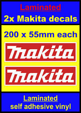 Laminated 2 Makita tools toolbox sticker motorsport decals car van mini truck re