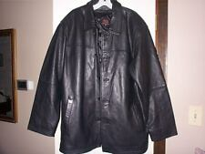 THE SOPRANOS HBO Mens Black Supple Heavy Leather Lined Coat Jacket L