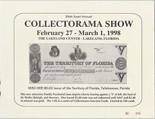 1998 Collectorama Show Souvenir Card Lakeland Florida Scarce Nice Free Shipping