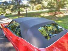 ALL GM FULL SIZE  1971-76 CONVERTIBLE TOP+DEFROSTER GLASS - BLACK VINYL