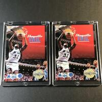SHAQUILLE O'NEAL SHAQ 1992 SKYBOX #382 ROOKIE RC (2 CARD LOT) MAGIC NBA HOF