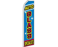 """2 x /""""AUTO GLASS SPECIALISTS/"""" Super Flags swooper two car"""