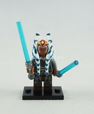 Mini Figures Star Wars Jedi Order Ahsoka Tano Blue Lightsaber Building Toys Gift