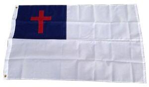 3' X 5' 3x5 Christian Embroidered Christ Cross Church Flag Nylon 250D grommets