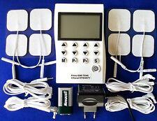4 CANALI EMS TENS Apparecchio Elettrostimolatore muscolare ARTROSI DOLORI irritanti elettricità agopuntura