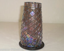 🌸 Purple Glass Mosaic Beautifully Handcrafted Tealights Candle Holder 🌸