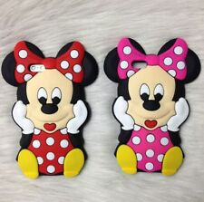 3D Cartoon Minnie Mouse Silicone Phone Case Cover For IPhone 6 7 Samsung HTC LG