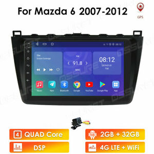 "For Mazda 6 2007-2012 Radio Android 10.0 GPS Sat Nav Car Stereo 9"" DAB+ WiFi DSP"