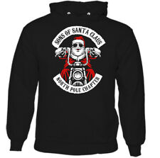 Christmas Biker Hoodie Sons Of Santa Claus Anarchy Mens Funny Motorcycle Bike