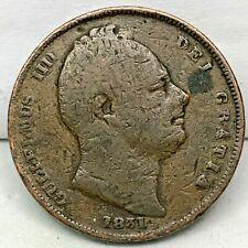 Great Britain, 1 Farthing, 1831- Copper, KM#705. 1/4 Penny- William IIII.
