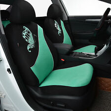car seat covers set two fronts car seat protectors Breathable washable mint blue