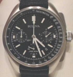 NEW OPEN BOX Bulova Men's 96B251 Chronograph Special Edition Moon Watch Set $695