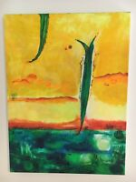 """Abstract Original acrylic unframed painting on canvas 16"""" x 24"""""""