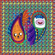 PAISLEY ADVENTURE TlME BLOTTER ART perforated sheet paper psychedelic art