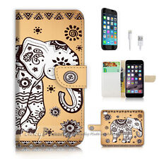 ( For iPhone 6 / 6S ) Wallet Case Cover P2554 India Elephant