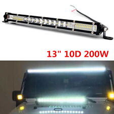 "13"" Super Bright Slim LED Light Bar 200W Car SUV High Power Work Light 12V/24V"