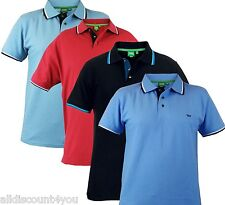 Duke Big Tall King Size Mens Polo T Shirt Collared Casual Tee Top 1XL-4XL-4color