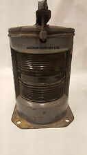 Vintage Large Copper Masthead Ships Lamp / Light Genuine Military Issue
