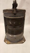 Lámpara de Vintage Grande De Cobre cabecera barcos/Luz Genuino PROBLEMA MILITAR