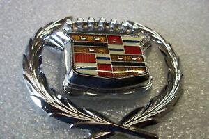 kNOS NEW  80-96 Cadillac Models CHROME Trunk Lock Swing Emblem