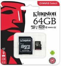 Kingston Micro SD SDHC memory Card 64GB Memory with SD card Adaptor Class 10