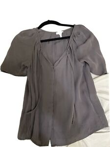 Joie gray silk short sleeves top size S