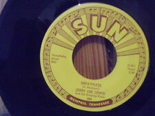 ORIGINAL 45 SUN 288 JERRY LEE LEWIS - BREATHLESS - DOWN THE LINE - EX