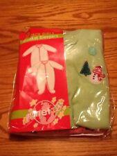 Set Of 2 Planet ZZZ Girls Christmas Blanket Fleece Sleepers Size 18Mos. NIP!