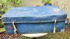 Vintage 1960's Hepworths Tailors Large Blue Wardrobe Transport Trunk. Wirral