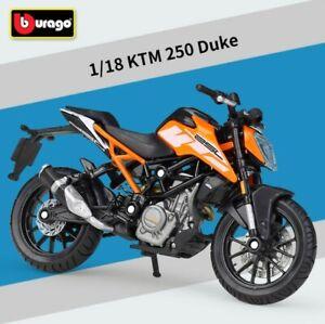 Bburago 1:18 KTM 250 Duke Motorcycle Dirt Bike Model New in box