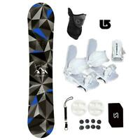 Symbolic Arctic Snowboard+Bindings Package Youth Kids Stomp+Leash+Mask+Burton 3d