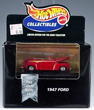 Hot Wheels Collectibles 1947 Ford Red Limited Edition 1/64 MIB