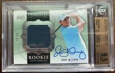 2014 UD Exquisite Rory McIlroy Rookie Autograph Swatch Patch BGS 9.5 GEM MINT 99