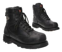 HARLEY DAVIDSON Motorcycle Boots 7.5 M Mens Black Steel Toe Leather Biker Boots