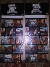GTA Grand Theft Auto San Andreas Promotional Gift Wrap x2 *FACTORY SEALED*