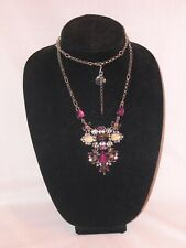White House Black Market Jeweled Long Necklace with WHBW tag