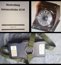FF 63 NVA Beschreibung Amtsanschliesser AS 60 Feldtelefon
