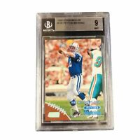 Peyton Manning 1998 Topps Stadium Club BGS 9 Rookie Card RC