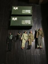 """Large 140+ Pc Lot of GI Joe 12"""" Inch Figures w/ Guns Clothes Dog Tags Bombs Case"""