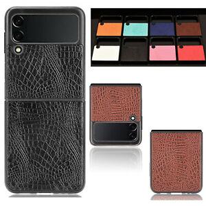 For Samsung Galaxy Z Flip 3 5G Luxury Hybrid Crocodil Leather Phone Case Cover