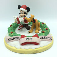 Vintage Disney Exclusive 1993 Christmas Season's Greetings Mickey Pluto Figurine