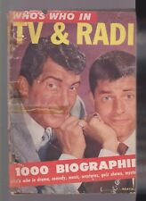 WHO'S WHO IN TV & RADIOMARTIN & LEWIS-1952-98PGS-ALL MAGS AS IS-MAY HAVE DAMAGE