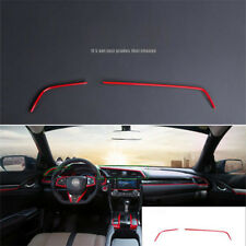Red For Honda Civic 10th 2016 2017 ABS Air condition Outlet Cover Frame Trim New
