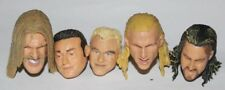 Lot of 5 WWE Action Figure Heads For Customs USED Wrestling WWF Jakks Custom #12