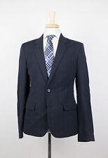 New. MAISON MARTIN MARGIELA Navy Blue Wool Blend Sport Coat Blazer 48/38R $1445